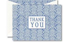 Blue Block Thank You Notes
