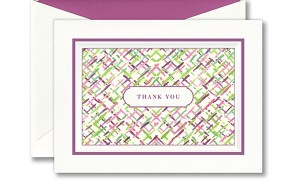 Painted Border Thank You Note