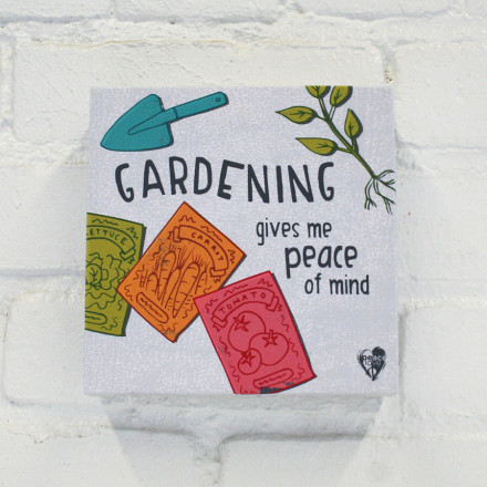 """Gardening Gives Me Peace of Mind"" Canvas Print"