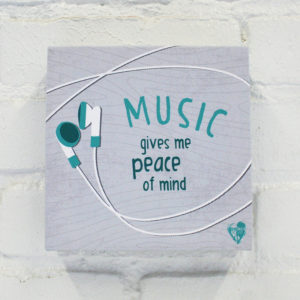 """Music Gives Me Peace of Mind"" Canvas Print"