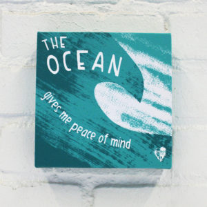 """The Ocean Gives Me Peace of Mind"" Canvas Print"