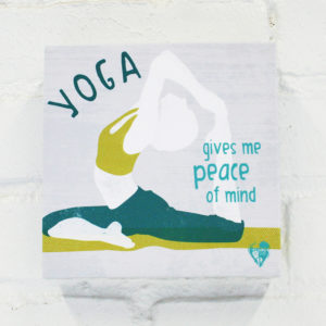 """Yoga Gives Me Peace of Mind"" Canvas Print"