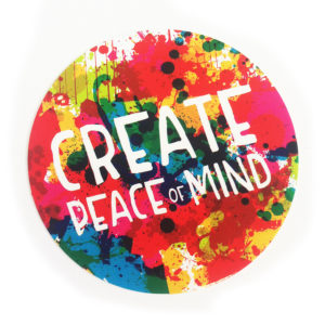 Create Peace of Mind Sticker