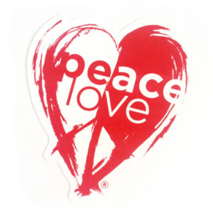 PeaceLove Logo Sticker