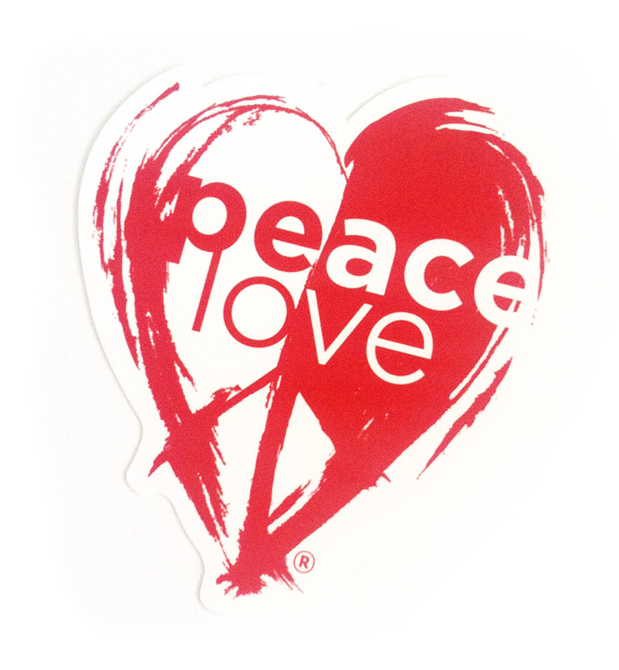 peacelove original sticker peacelove