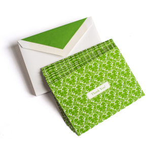 Green Damask Cards