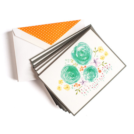 Whimsical Flower Bed Cards